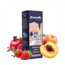 AROMA CONCENTRATO CRAZYMIX POMEGRANATE PEACH STRAWBERRY 10ml