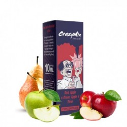 AROMA CONCENTRATO CRAZYMIX RED APPLE GREEN APPLE PEAR 10ml